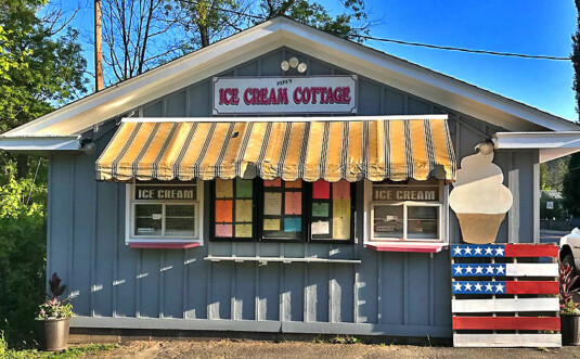 ice cream stand exterior