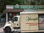 exterior store with yuengling truck parked out front