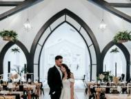 pocono palms couple in church