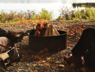 promised-land-park-pickerel-point around the firepit