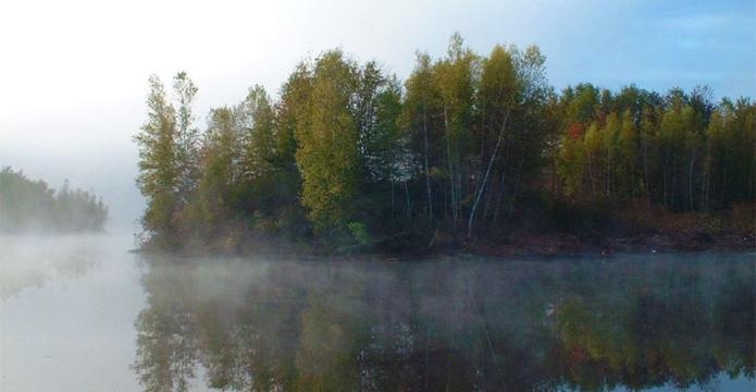 prompton-state-park mist on the lake
