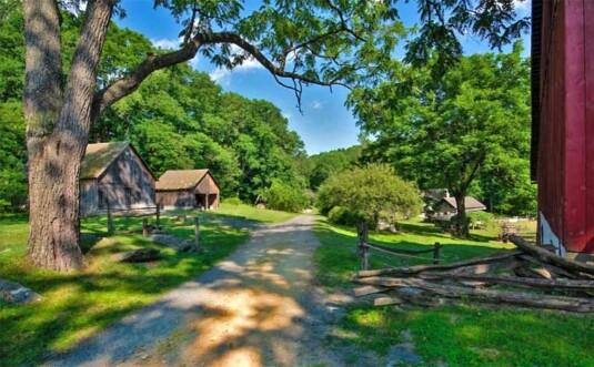 road through the farm