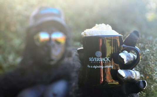 gorilla with whiskey cocktail