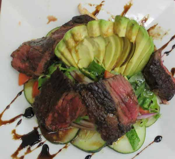 tequila-sunrise-mexican-milford-steak-avocado-salad