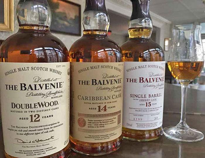 the-delmonico-room-hotel-fauchere-balvenie-bottles of scotch