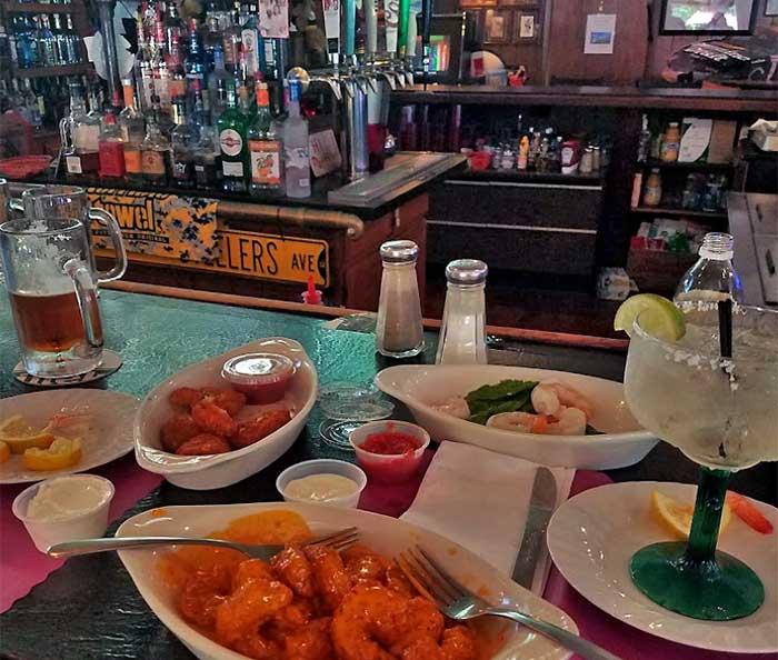the dutchman tavern dinner on the bar