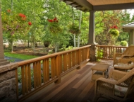 front porch of summer home