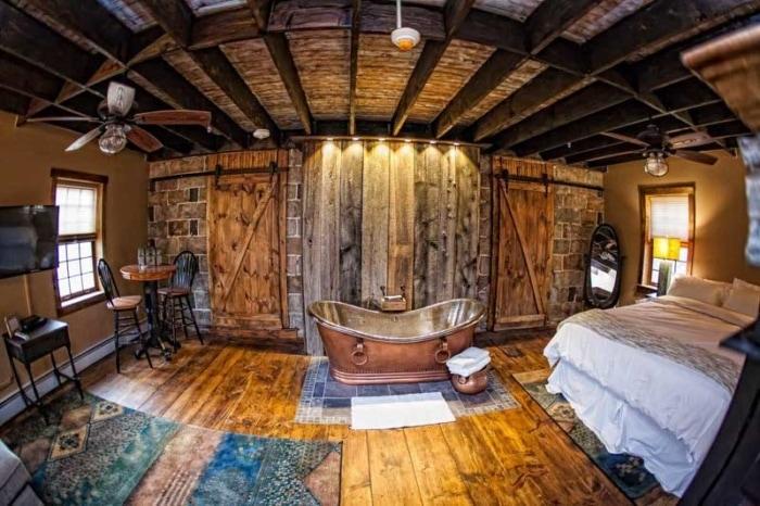 the inn at birch wilds room copper bathrub
