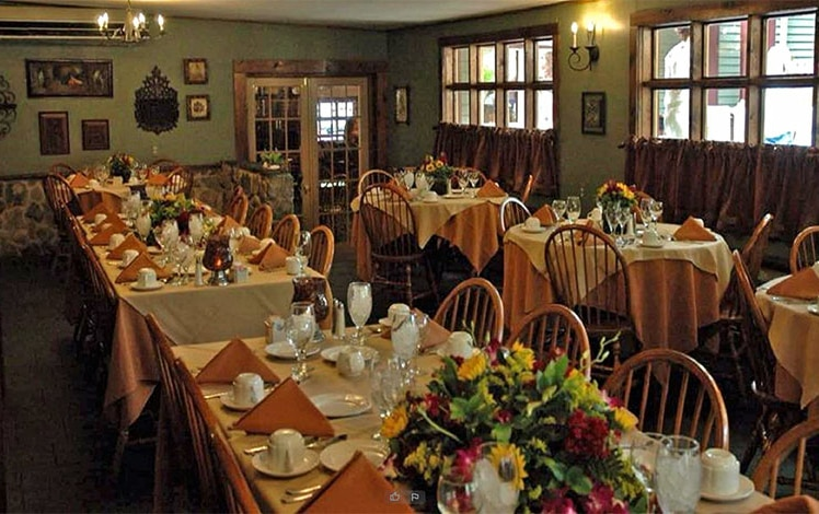 inside of dining room