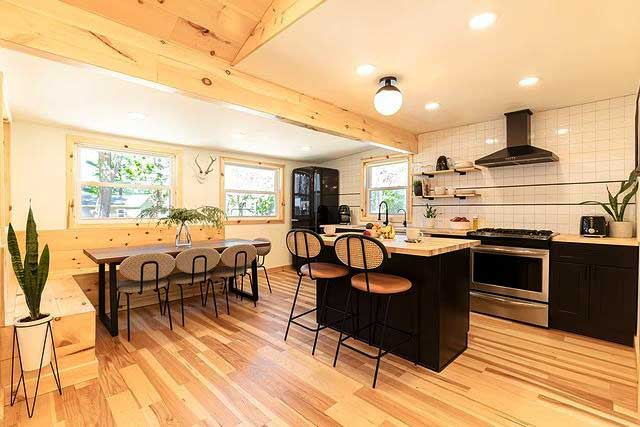 kitchen in premium cabin