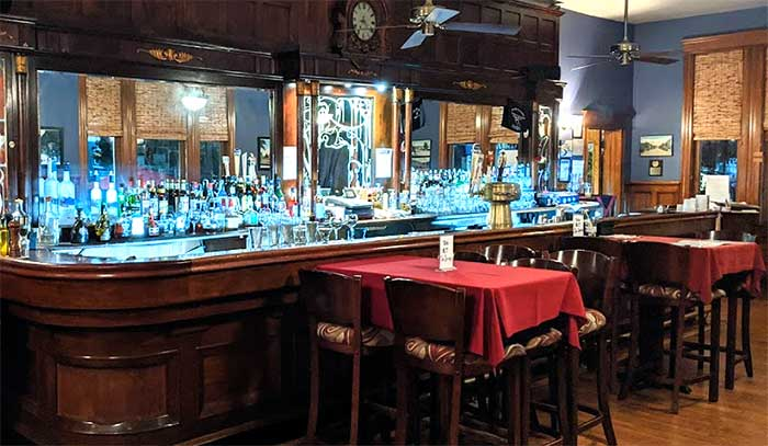 the ridge bar and tables