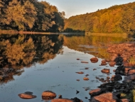delaware river at valley view group campground
