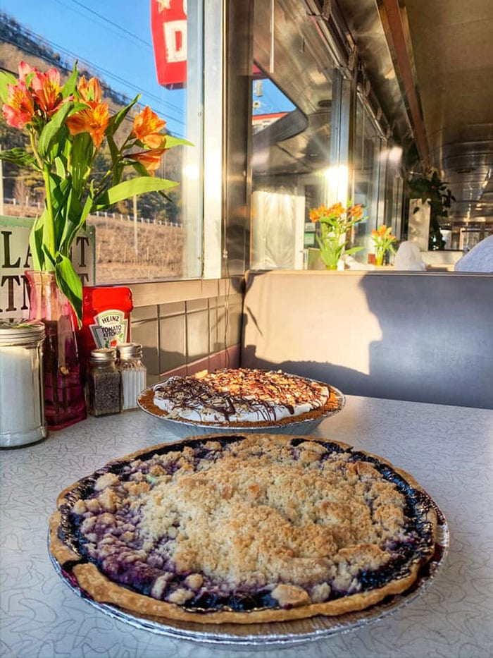 village-diner-milford-pies-on-tables-near-window