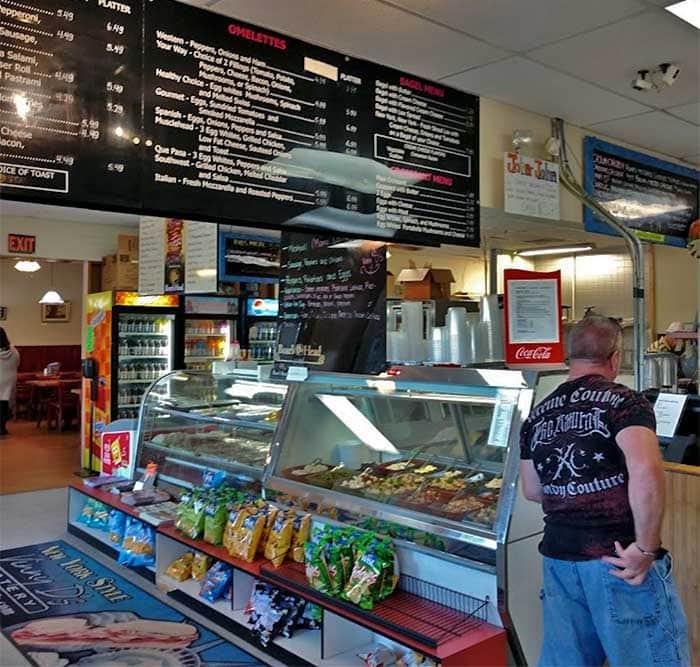 vinny d's deli & catering pickup counter