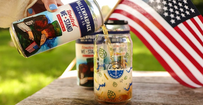 united we stand beer and american flag