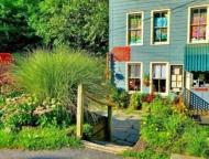 steps to front door and garden