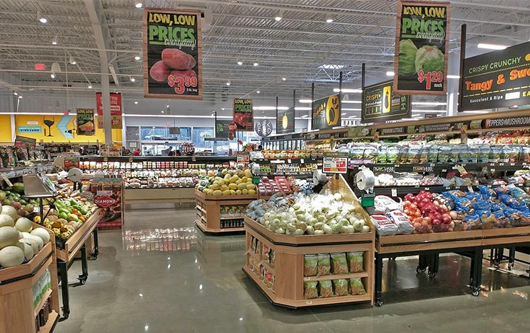 grocery store produce area
