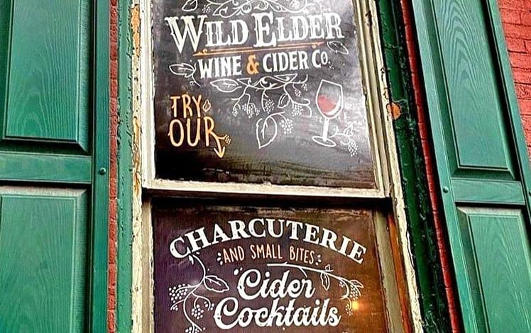 wild elder painted front window