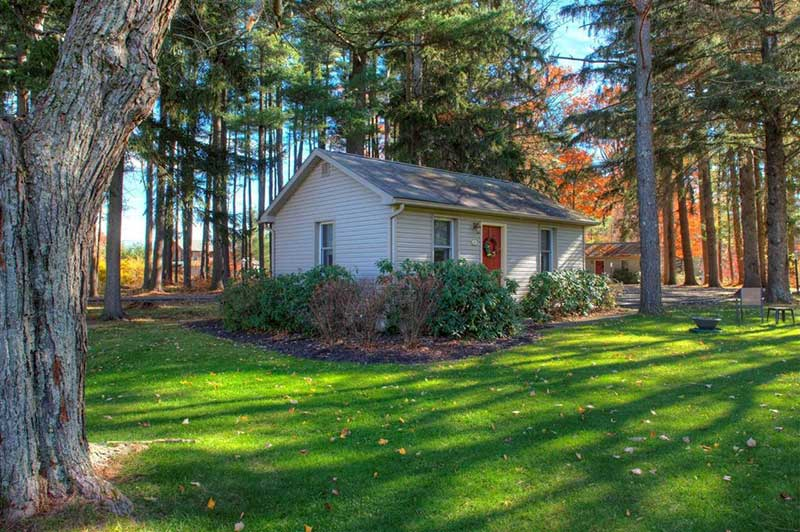 woodfield-manor-pocono-cottage surrounded by trees