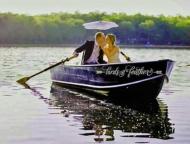 married couple in canoe