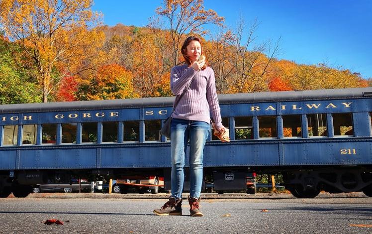 woods-ice-cream-jim-thorpe-having-a-cone-at-the-train